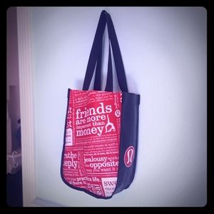 * Lululemon Bag * Reusable Red & Black Small Tote